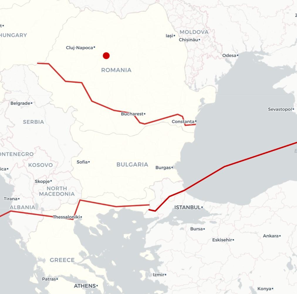 东南欧的天然气管道