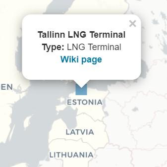 爱沙尼亚LNG接收站的详细信息面板