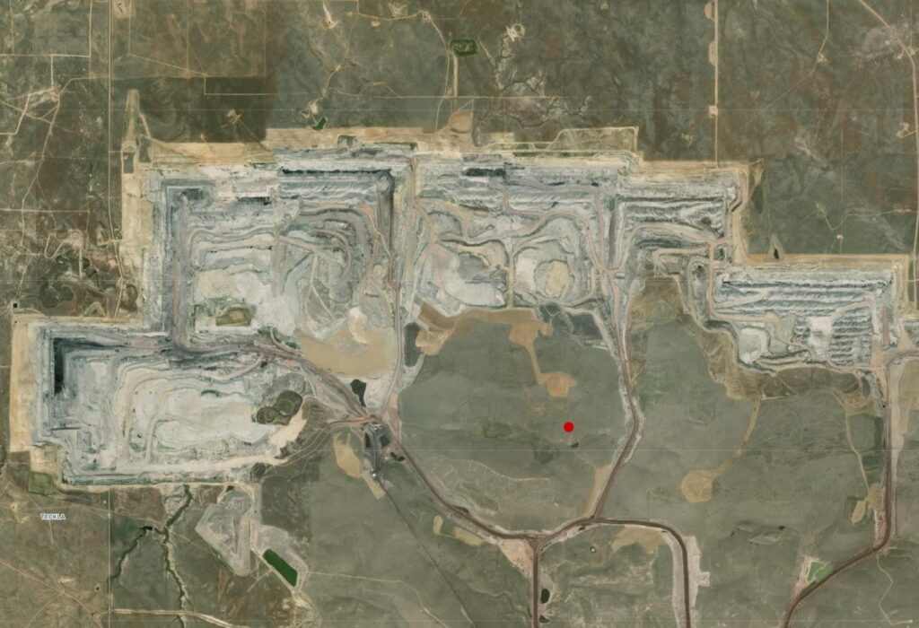 Open pit coal mine, United States