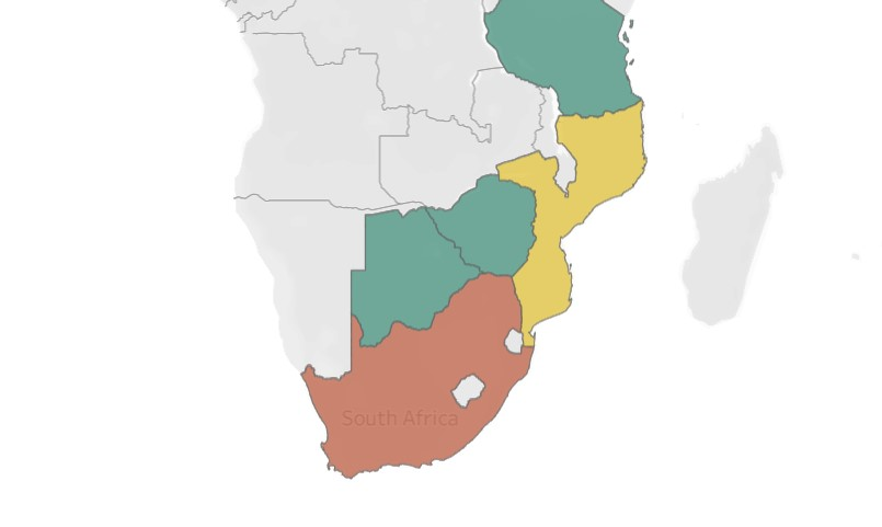 Proposed coal mine capacity, southern Africa